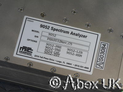 Morrow Technologies 9052 1.6GHz ISA Spectrum Analyser Module