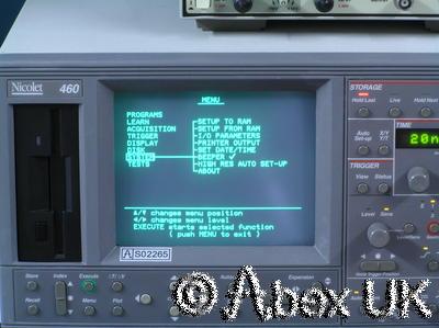 Nicolet 460 4-Channel Digital Oscilloscope 100MHz GPIB SCSI RS232