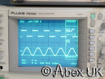 Philips PM3082 4-Channel 100MHz Oscilloscope Cursors and Dual/Delayed timebase