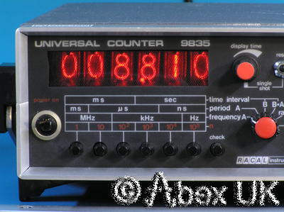 Racal 9835 Nixie Universal Counter/Timer