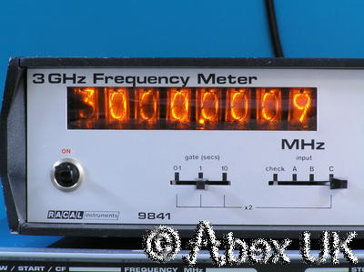 Racal 9841 3GHz Nixie Frequency Counter