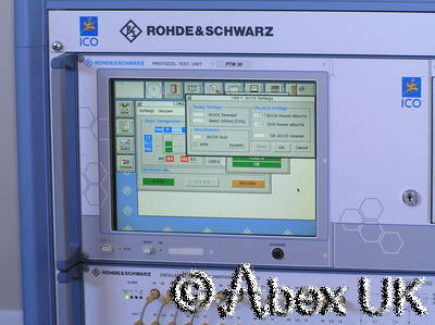 Rohde Schwarz TS1232 PTW30 OSCU ICO Satellite Phone Protocol Tester