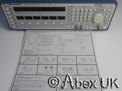 Rohde & Schwarz AFG 377-2100-02 20MHz Synthesiser Function Generator