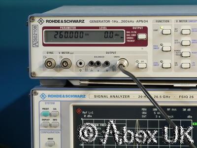 Rohde & Schwarz APN04 LF (Ultrasonic) Signal Generator 1Hz - 260KHz