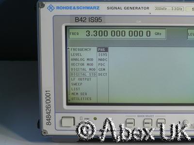 Rohde Schwarz IS-95 SMIQ03 Signal Generator 300KHz - 3.3GHz B1 B5 B10 B12 B42