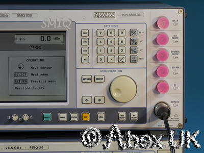 Rohde & Schwarz SMIQ03B 3.3GHz Vector Signal Generator B1,11,20,50