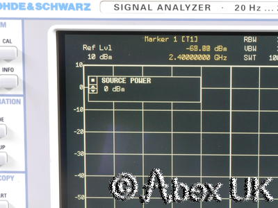Rohde Schwarz FSIQ26 Spectrum Signal Analyser 26GHz Options (Tracking Generator)