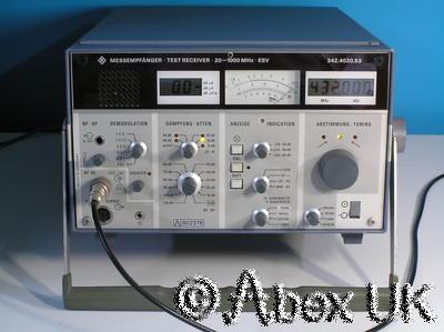 Rohde Schwarz ESV Test Receiver 20Mhz - 1GHz Level Measuring AM FM Demod