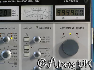 Rohde Schwarz ESV Test Receiver 20Mhz - 1GHz Level Measuring AM FM Demod