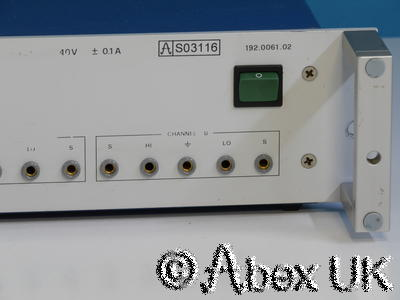 Rohde & Schwarz NGPS Programmable Dual Voltage Source