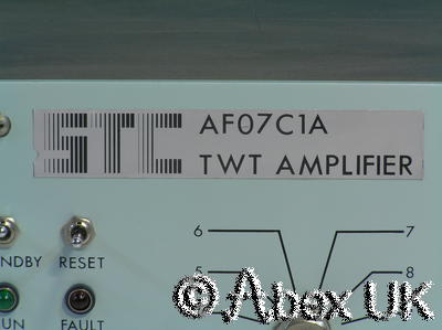 TWTA 44GHz 25 Watts MilSat Uplink Travelling Wave Amplifier STC AF07C1A 25 NOS