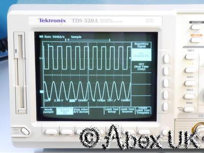 Tektronix TDS520A 2- Channel 500MHz 500Ms Oscilloscope GPIB Cursors (1)