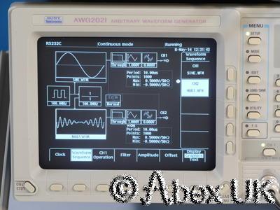 Tektronix (Sony) AWG2021 250Ms/s 2-Channel Arbitrary Waveform Generator