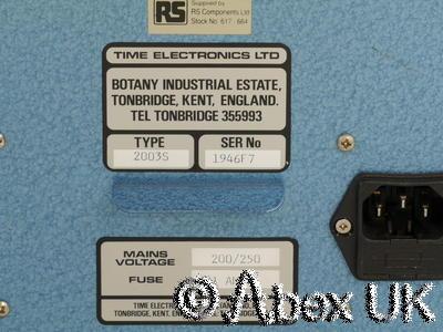 Time 2003s D.C. Voltage Calibrator +/- 0-10V (3)