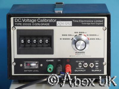 Time 2003s D.C. Voltage Calibrator +/- 0-10V Very Nice