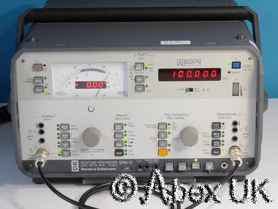 Wandel & Goltermann SPM-15 Selective Voltmeter Tracking Generator 10MHz