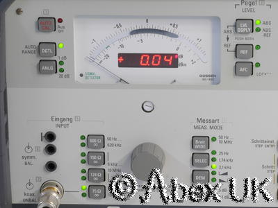 Wandel & Goltermann SPM-15 Selective Voltmeter Tracking Generator 10MHz