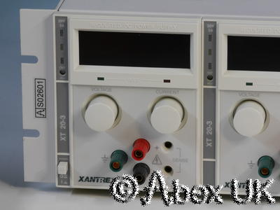 Sorensen / Xantrex XTQ20-3X Programmable Quad PSU 20V 3A with GPIB