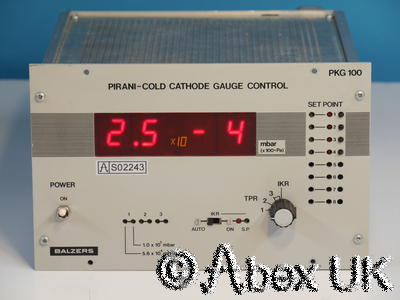 Balzers (Pfeiffer) PKG100 Pirani Cold Cathode Gauge Display / Controller