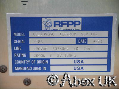 RFPP ICP20P 27.12MHz 2kW RF Power Source Plasma Generator
